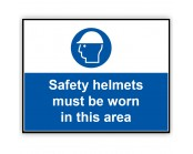 Safety Helmets Must Be Worn Correx Sign