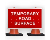 Temporary Road Surface Cone Sign