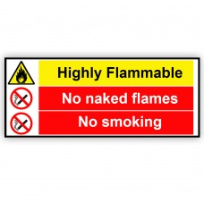 Highly Flammable No Naked Flames No Smoking