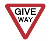 Give Way Plate 600mm