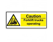 Caution Forklift  Truck Correx Sign