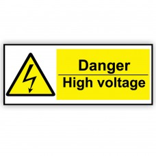 Danger High Voltage Correx Sign