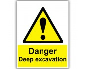 Danger Deep Excavation Correx Sign
