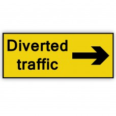 Diverted Traffic Right Plate 1050mm x 450mm