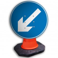 Directional Arrow Left Cone Sign 600mm