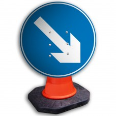 Directional Arrow Right Cone Sign 600mm