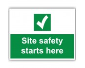 Site Safety Starts Here Correx Sign