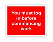 You Must Log in Before Work Correx Sign