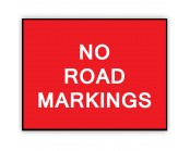 No Road Markings Plate 1050mm x 750mm