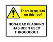 No Lead On Roof Correx Sign