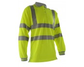 Pulsar P458 High Visibility Long Sleeve Polo Shirt