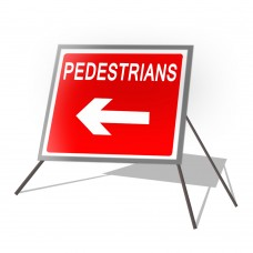 Pedestrian Left Roll Up Sign
