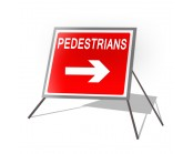 Pedestrian Right Roll Up Sign