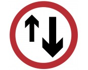 Priority To Oncoming Traffic Plate 750mm