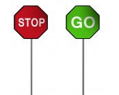 Stop Go Sign 600mm