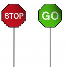 Stop Go Sign 900mm