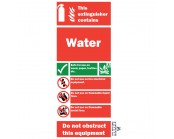 Water Fire Extinguisher Sign