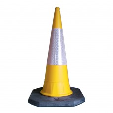 1m Road Cone Yellow