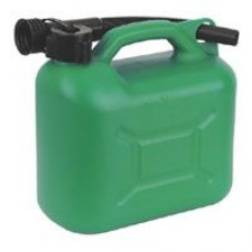 Green Plastic Fuel Can 5 Litre