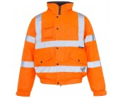 Orange High Visibility Bomber Jacket