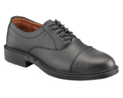 Black Plain Front Safety Shoe