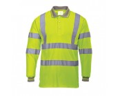 High Visibility Long Sleeve Polo Shirt