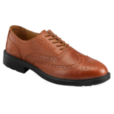 Brown Brogue Safety Shoe