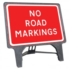 No Road Markings Q Sign