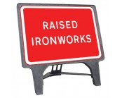 Raised Ironworks Q Sign