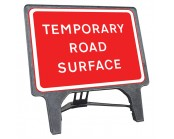 Temporary Road Surface Q Sign