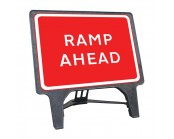 Ramp Ahead Q Sign