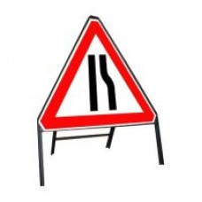 600mm Road Narrows Offside Sign