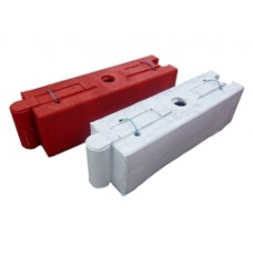 White Log Traffic Separator
