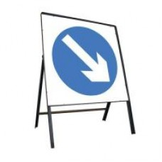 750mm Keep Right Sign