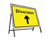 Diversion Ahead Sign