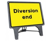 Diversion End Q Sign