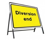 Diversion End Sign