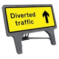 Diverted Traffic Ahead Q Sign
