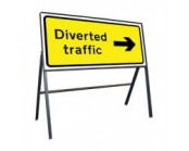 Diverted Traffic Right Sign 1050mm x 450mm