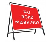 No Road Markings Sign