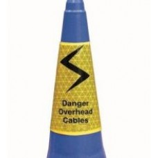 Danger Overhead Cables Cone Sleeve 750mm