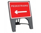 Pedestrians Left Q Sign