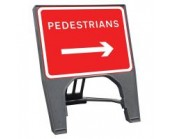 Pedestrians Right Q Sign