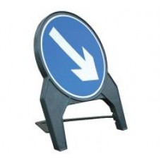 Keep Right Q Sign 600mm