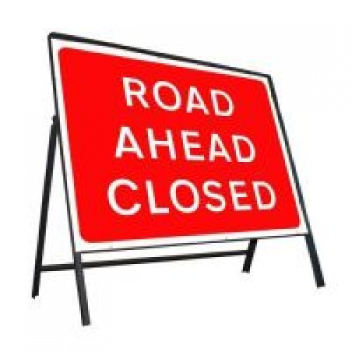 Road ahead closed sign manchester safety services
