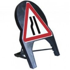 Road Narrows Nearside Q Sign 600mm