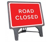 Road Closed Q Sign