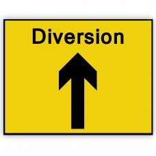 Diversion Ahead Plate 1050mm x 750mm