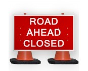Road Ahead Closed Cone Sign
