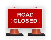 Road Closed Cone Sign